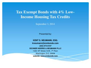 Tax  Exempt Bonds with 4% Low-Income Housing Tax Credits September 3, 2014