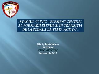 Discipline  tehnice  - NURSING CERC METODIC Noiembrie 2013