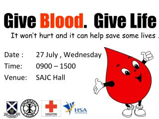 Give  Blood .  Give Life