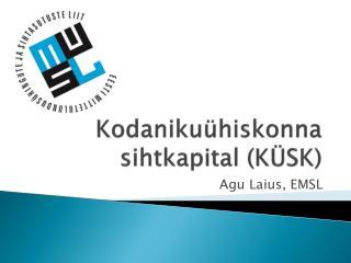 Kodanikuühiskonna sihtkapital (KÜSK)