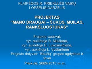 Priekulė, 2009-2010 m.m.