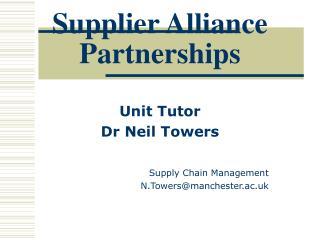 Supplier Alliance Partnerships