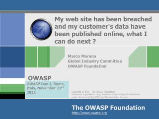 Marco Morana Global Industry Committee OWASP Foundation
