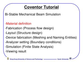 Coventor Tutorial