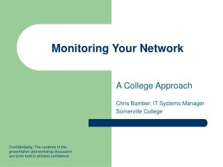 Monitoring Your Network