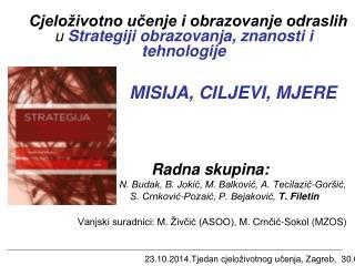 23.10.2014. Tjedan cjeloživotnog učenja, Zagreb,  30.09.2013