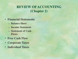REVIEW OF ACCOUNTING Chapter 2