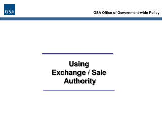 GSA Office of Government-wide Policy
