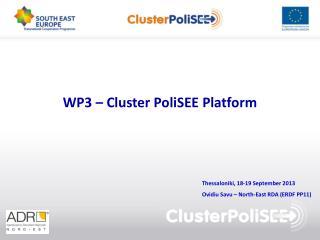 WP3 – Cluster PoliSEE Platform