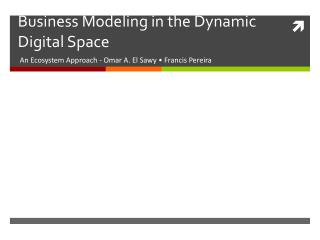Business  Modeling  in the Dynamic Digital Space