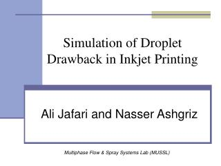 Simulation of Droplet Drawback in Inkjet Printing