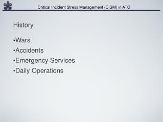 Wars Accidents Emergency Services Daily Operations