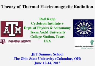 Theory of Thermal Electromagnetic Radiation