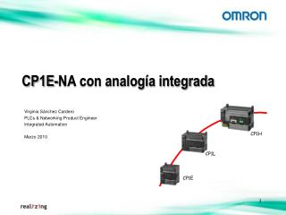 CP1E-NA con analogía integrada
