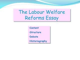 The Labour Welfare Reforms Essay
