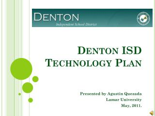 Denton ISD  Technology Plan