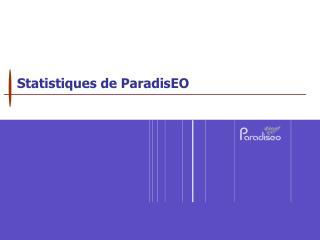 Statistiques de ParadisEO