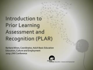 Introduction to Prior Learning Assessment and Recognition (PLAR)