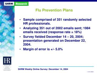 Flu Prevention Plans