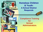 Compliance Training for School Administrators