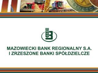 """""""POLITYKA REGULACYJNA W OCENIE  BANKÓW SPÓŁDZIELCZYCH"""""""