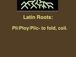 Latin Roots: Pli/Ploy/Plic- to fold, coil.