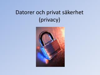 Datorer och privat säkerhet (privacy)