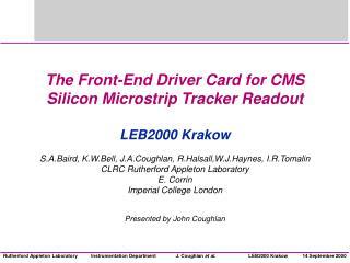 CMS Silicon Tracker Readout