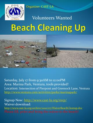 Beach Cleaning Up