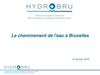Le cheminement de l'eau à Bruxelles