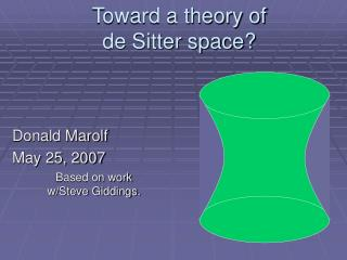Toward a theory of  de Sitter space?
