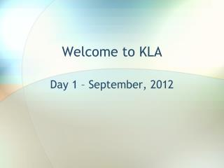 Welcome to KLA