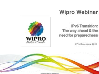 IPv6 Transition:  The way ahead  the  need for preparedness