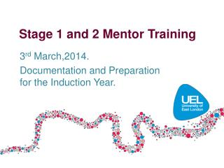 Stage 1 and 2 Mentor Training