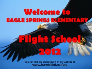 Welcome to  EAGLE SPRINGS ELEMENTARY