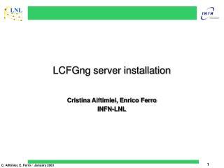 LCFGng server installation
