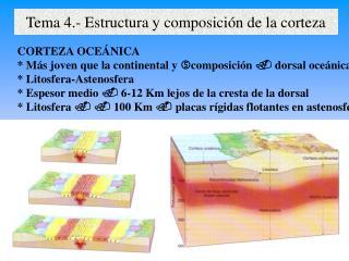 Tema 4.- Estructura y composición de la corteza