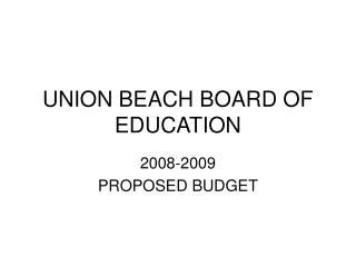 UNION BEACH BOARD OF EDUCATION