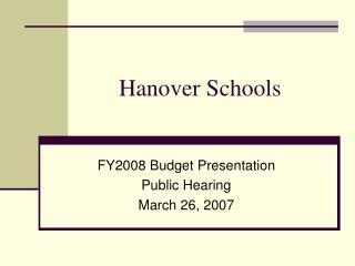Hanover Schools