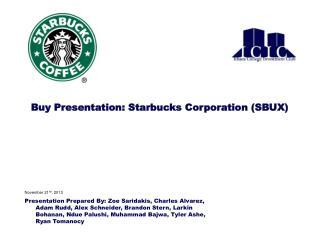 Buy Presentation: Starbucks Corporation (SBUX)