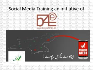 Social Media Training an initiative of