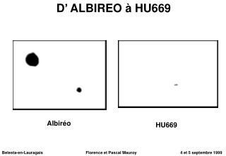 D' ALBIREO à HU669