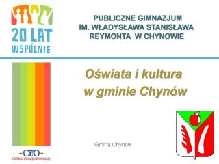 Oświata i kultura  w gminie Chynów