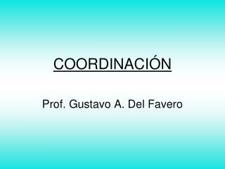 COORDINACI N