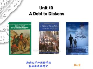 Unit 10  A Debt to Dickens
