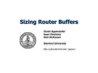 Sizing Router Buffers