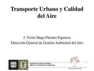 Transporte Urbano y Calidad del Aire