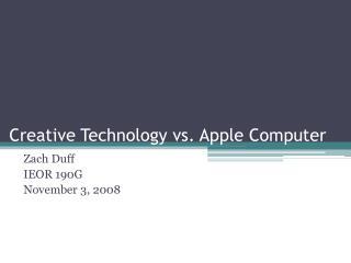 Creative Technology vs. Apple Computer