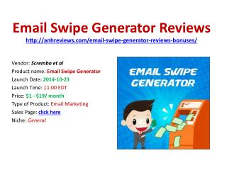 Email swipe generator reviews bonuses discount