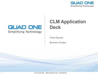 CLM Application Deck